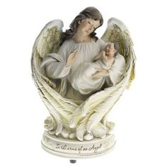 Baby in Angel Wings Musical Figure | The Catholic Company