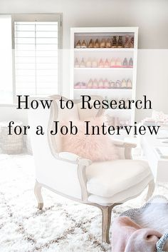 How to Research for a Job Interview