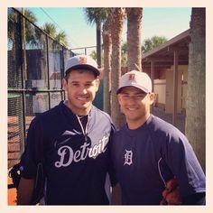 Jose Iglesias and Ian Kinsler, Detroit Tigers shortstop and second baseman. jose+iglesias+and+ian+kinsler | Sunday, February 16, 2014