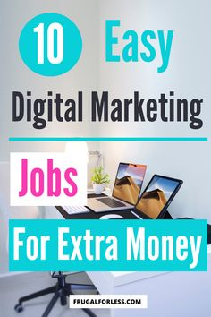10 easy digital marketing jobs for extra money. If you're looking to make some extra money at home and work online, or are looking for a remote job, these are some great options for both full-time and part-time work. Ways To Save Money, Make Money Online, How To Make Money, Marketing Jobs, Digital Marketing, Single Mom Jobs, Accounting Jobs, Survey Sites That Pay, Social Media Trends