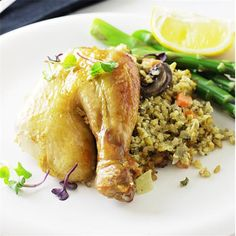 Roast Chicken and Freekeh Stuffing by @savorthebest - #KeepOnCooking #Entree #Entrée #Poultry #Rice #Grain #Grains
