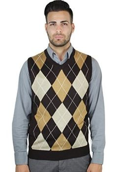 Argyle Sweaters and Socks | Argyle Sweater Vest - Mens Brown/Khaki ...