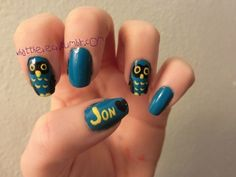 owl nails for @Jon Lehman and I's 1 year =)