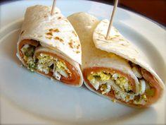 Burrito de salmón ahumado