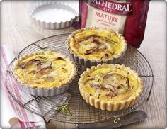 Cathedral City Mature Cheddar Creamy Cheese and Onion Tartlets