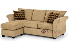 Stanton 107 Chaise Sleeper in Ridge Fawn (Queen) Sectional Sleeper Sofa, Sofa Couch, Chaise Sofa, Couches, Stanton Furniture, Sofa Furniture, Sofa Design, Sleepers In Seattle, Hidden Bed