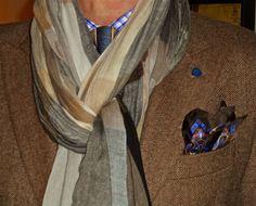 Ralph Lauren jacket, cotton scarf, Tommy Hilfiger shirt, vintage tie…