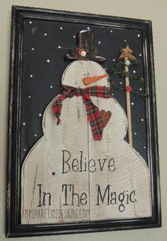 "Believe In The Magic 13"" x 19"" Cupboard Doo"