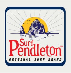 Surf Pendleton label. This is adapted from our old Knocakabouts label, and it features Haystack Rock (Cannon beach, OR).
