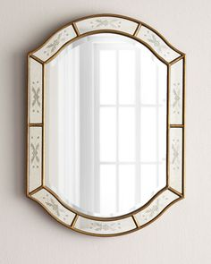 Bath 215 Etched Mirror Oval Door Beveled