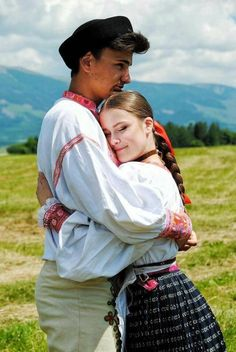 Lovers, Slovakia Ethnic Outfits, Ethnic Clothes, Folk Costume, Costumes, European Dress, Winter's Tale, Folk Dance, Folk Fashion, People Of The World