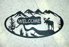 PlasmaCAM cutting Systems, CNC Plasma Cutting machine, CNC plasma table. Moose, wildlife metal welcome sign