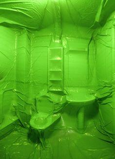 Bathroom by Penique productionsNottingham, UKJanuary of 20092,5 x 2,5 x 2,5 m