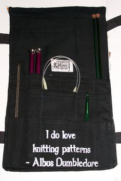Harry Potter Knitting Needle Roll Up by creatingMimsy on Etsy