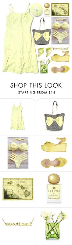 """""""Summer Dress"""" by grozdana-v ❤ liked on Polyvore featuring LOFT, Betsey Johnson, Natural Curiosities, Mary Greenwell, Jennifer Meyer Jewelry and Dot & Bo"""