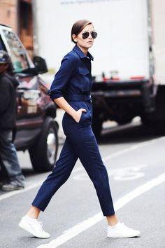 2 cool ways to wear a utility jumpsuit #style #fashion #converse #streetstyle #sneakers #casual