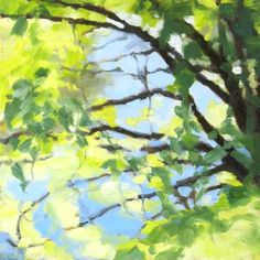 """""""Bright Tree and Blue"""" by Julia Sutliff"""