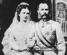 "Lovely couple in their youth.....Empress Elisabeth of Austria (""Sisi"") and Franz Josef"