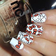 Hello Kitty & Cat Paw Prints Toe Nail Art Design , Have you even seen hello Kitty nail styles before? the lovable hello Kitty ought to be the foremost common cat within. Hello Kitty Themes, Hello Kitty Nails, Pedicure, Crazy Nail Art, Vacation Nails, Red Nail Designs, Japanese Nail Art, Cat Nails, Toe Nail Art
