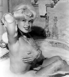 Jayne Mansfield in the bubbly.