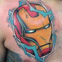 Marvel Tattoos, Cool Tattoos For Guys, Tattoos For Kids, Super Hero Tattoos, Los Mejores Tattoos, Soldier Tattoo, Iron Man Art, Stylish Tattoo, Tattoo Project