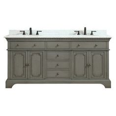 "Azzuri Hastings 73"" Double Bathroom Vanity Set Base Finish: French"
