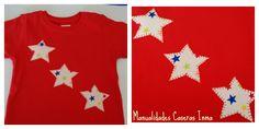 Manualidades Caseras Inma Camiseta de estrellas para bebé de un año
