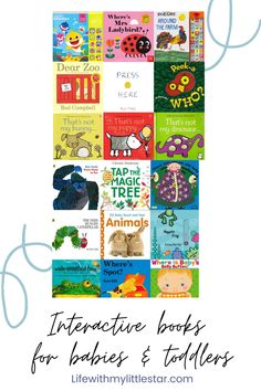 The ultimate list of best interactive boks for kids. #reading #toddlerbooks #toddleractivities #kidsbooks Board Books For Babies, Books For Moms, Best Children Books, Toddler Books, Book Suggestions, Book Recommendations, The Farm Book, Touch And Feel Book, Toddler Milestones