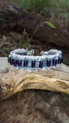 Braided Bracelets, Metal Bracelets, Cuff Bracelets, Leather Cuffs, Leather Jewelry, Metal Jewelry, Cowgirl Jewelry, Gothic Jewelry, Denim Bracelet