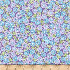 Kaufman Cozy Cotton Flannel Flower Lavender