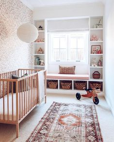 Unbelievable 5 Design Ideas for Creating the Nursery Room of Your Goals A child's room quickly turns into the middle of the house. The place your baby will be taught, play and develop. Planning to your child is likely one . Baby Room Design, Nursery Design, Baby Room Decor, Nursery Room, Girl Room, Kids Bedroom, Child's Room, Red Nursery, Nautical Nursery