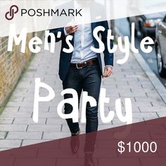 03/10/17 @4pm Men's Style Party Join me 03/10/17 @4pm as I co host my 1st posh party!!!! Men's Style Party!!! I'd love to check out your closet, please tag me in your fresh men's items or drop your closet name!!! H&M Shirts Dress Shirts