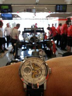 Wrist Shot Armin Strom Gravity from Marussia Garage