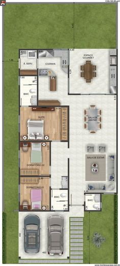 Home & Decor House Layout Plans, Dream House Plans, Small House Plans, House Layouts, House Floor Plans, My Dream Home, Home Design Plans, Plan Design, Model House Plan