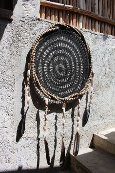 Large crochet dream catchers, with hanging sea shell and feathers, made in Mexico by DreamsMexico on Etsy https://www.etsy.com/uk/listing/536676337/large-crochet-dream-catchers-with