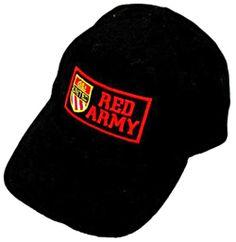 RED ARMY Black Baseball Cap