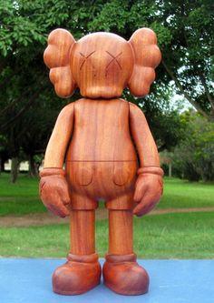 Image of Wooden ORIGINALFAKE KAWS COMPANION Mahogany QUALITY GUARANTEED!