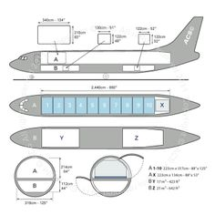 Boeing B737-400F freighter diagram (ACS http://www.aircharterservice.com/)