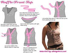 Como Transformar Camisetas <sub> Tutoriales Re-Fashion</sub> - enrHedando