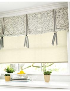 masculine idea for window covering....change the fabric and this would work great in a little boys room.