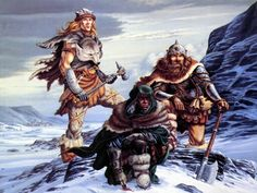 Bruenor, Drizzt, and Wulfgar