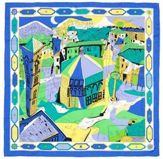 Silk scarf by Emilio Pucci with the print of the Duomo, Giotto's Bell Tower and Baptistery of Florence.