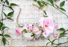 Pink Fascinator, Headpiece, Flower Crowns, Pink Flowers, Floral Wreath, Wreaths, Unique Jewelry, Handmade Gifts, Etsy
