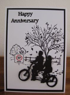 CRAFTY IDEAS, MINE AND EVERYONE ELSES: A CASUAL 25TH WEDDING ANNIVERSARY CARD