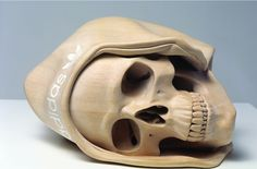 Australian sculptor, Ricky Swallow's incredible work in wood. Wood Carving Art, Wood Art, Wood Carvings, Bone Carving, Crane, Unusual Art, Skull And Bones, Wood Sculpture, Hand Carved