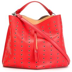 Maison Margiela eyelet embellished tote (24.195.075 IDR) ❤ liked on Polyvore featuring bags, handbags, tote bags, red tote bag, grommet tote, handbags tote bags, grommet handbag and tote purse
