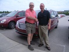 Tommy from Middlesex NC is returning to Cox Dodge to buy his next van - this 2013 Chrysler Town and Country. Thank you Tommy for your repeat business. His salesman is Barry Menta