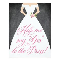 Will You Be My Bridesmaid Yes to the Dress Invitation
