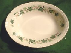 "Homer Laughlin Ivy Oval Serving Bowl, 9½"". $16.99 at hamptoncollect on ebay"