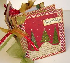 Merry Christmas Photo Album or Scrapbook Mini by LoveThoseScraps, $32.00